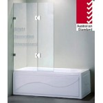 Frameless Overbath Shower Screen (2)