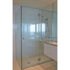 Square U CHANNEL Frameless Shower Screen 10mm Toughen Glass 1000X1000