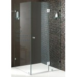 Bathroom Rectangular Frameless Shower Screen 10mm Toughen Glass Panels 800x850