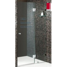 Frameless Shower Screen 10mm Tempered Toughen Glass Panels Wall To Wall 1000mm