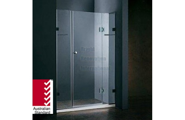 Frameless Shower Screen 10mm Tempered Toughen Glass Panels Wall To Wall 1600mm