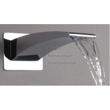 Square Rainbow Full Brass Wall Mount Bath Spa Spout Water Outlet