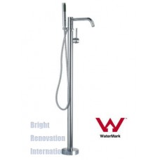 Cylinder Arch WELS Freestanding Bath Spout / Mixer & Hand Held Shower