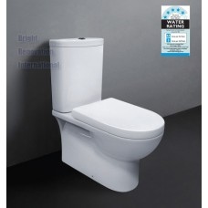 ZE007 Full Ceramic Wall Faced Toilet Suite Soft Close Seat S or P Trap