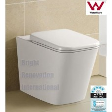 Square IN WALL CISTERN Ceramic Wall Face Toilet Suite Soft Close Seat KC301