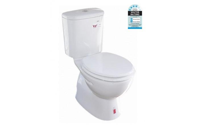 ZE001 Full Bathroom Ceramic Toilet Suite Soft Close Seat S/P Trap