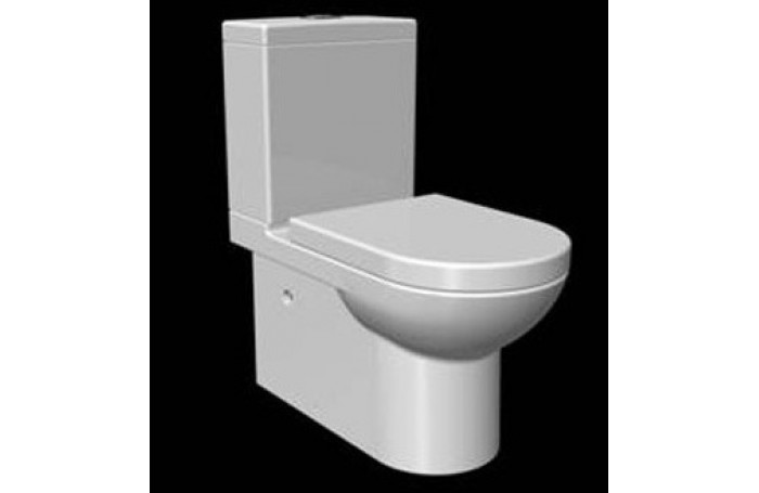 ZE006 Full Ceramic Wall Faced Toilet Suite Soft Close Seat S or P Trap
