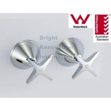 Bathroom WELS STAR Brass Chrome Wall Top Tap Set