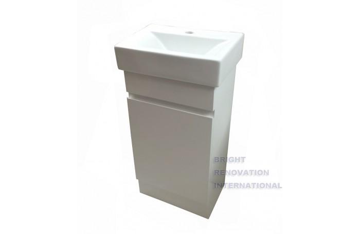 450mm Bathroom Vanity Ceramic Top Hidden Handle Kickboard,450Wx300Dx880H