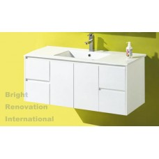 GLEN Bathroom White Finger Pull Hidden Handles Vanity 1200mm