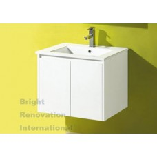 GLEN Bathroom White Finger Pull Hidden Handles Vanity 600mm