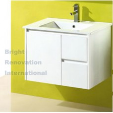 GLEN Bathroom White Finger Pull Hidden Handles Vanity 750mm