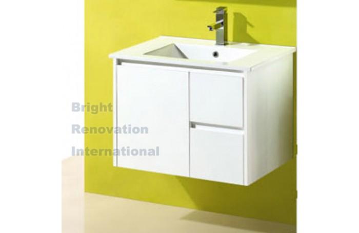 GLEN Bathroom White Finger Pull Hidden Handles Vanity 750mm