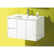 GLEN Bathroom White Finger Pull Hidden Handles Vanity 900mm