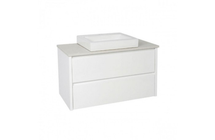 REVO Bathroom Double Drawer Vanity Stone Bench Square ABOVE COUNTER Basin, 900MM