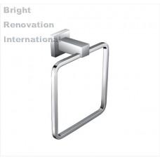 Brand New STREAM Square Bathroom Accessory Solid Brass Chrome Hand Towel Ring