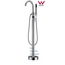 Round Cylinder GooseNeck WELS Freestanding Bath Spout / Mixer & Hand Held Shower