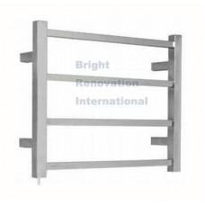 Heated Towel Rail Ladder Rack Square 4 Bars 450mmx550mm